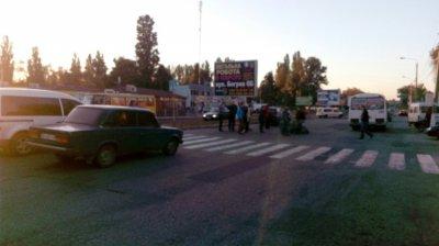 ДТП на пешеходном переходе, в районе автовокзала, пострадавшая доставлена в больницу (фото)