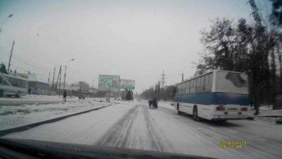 С Первым Снегом Никополь! Что на дорогах? (видео)