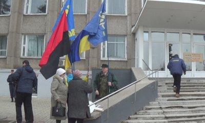 Під Нікопольською радою, перед сесієй, щодо Української мови (відео)
