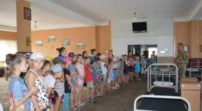 Пришкільний літній табір «Рассвет» при КЗ «НСЗШ №21» відвідав місцеву військову частину №А0593 ( вiдео)