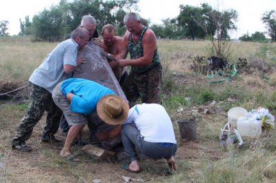"""Споруджено і встановлено пам""""ятний знак на честь героїв - козаків що віддали своє життя за волю рідної неньки - України !!"""