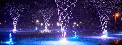 В Покрове появился музыкальный «танцующий» фонтан с подсветкой за 2 799 007 гривен (видео)