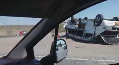 ДТП на трассе Запорожье - Мелитополь (близ Васильевки, видео)